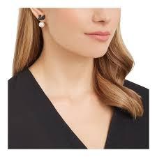 iconic earrings swarovski iconic black pearl swan earrings 5193949