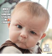 Mad Baby Meme - when see someone stealing my cookies im mad memesscom cookies meme