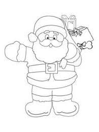 santa printables coloring pages craft holidays