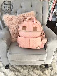 baby nursery tour neutrals pinks and grey blush and