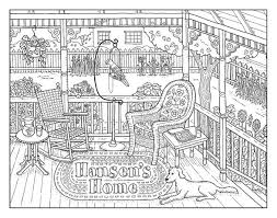 23 coloriages paysages images coloring books