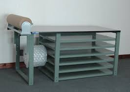 packing table with shelves stackbin custom projects fulfillment packing table