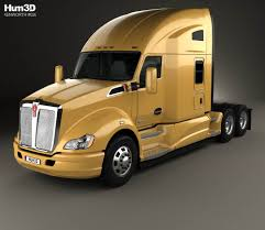 kenworth t680 2010 kenworth t680 tractor truck with hq interior 2012 3d model hum3d