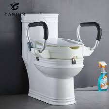 siège toilette surélevé yanjun portable siège de toilette surélevé avec poignées rembourrées