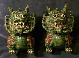 japanese guard dog statues de 26 bästa ceramic inspiration foo dog bilderna på
