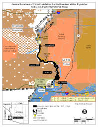 Yuma Az Map Maps For The Designation Of Critical Habitat For The Southwestern