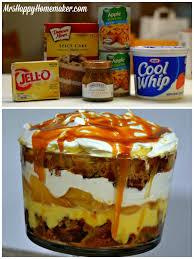 easy caramel apple trifle mrs happy homemaker
