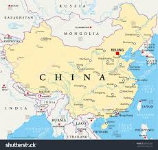 rivers in china map china political map capital beijing national stock vector