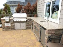 Grinder Sink by Outdoor Kitchen Breathtaking Outdoor Kitchen Island Completed