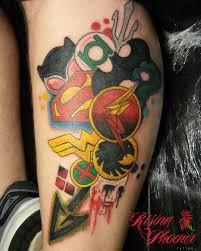 dc comics collage rising phoenix tattoo