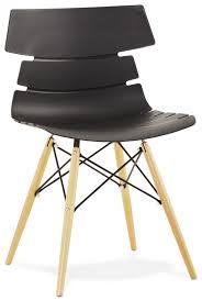 black scandinavian chair strata