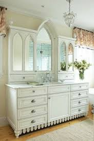 bathroom splendid traditional bathroom vanities for your bathroom here a master bath is dressed in warm whites and a cream fills the space with light the arched mirror adds a graceful and precious look