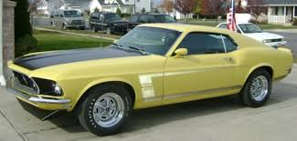 Yellow Mustang With Black Stripes 1969 Mustang Boss
