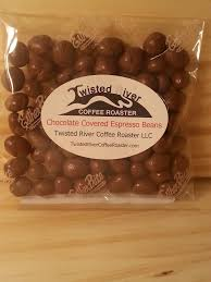 espresso coffee bag 4 oz bag milk chocolate covered espresso beans u2013 twisted river