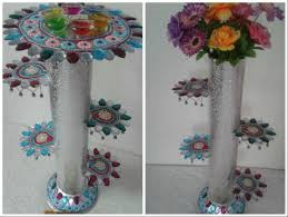 diy a stand or flower vase from old cd flower vases flower and