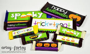 free printable halloween candy bar wrappers artsy fartsy mama