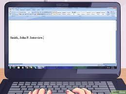 3 formas citar uma entrevista wikihow