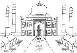 taj mahal jewel muslim art india coloring netart