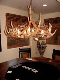 Antler Sconces Headed High Bronze Elk Antler Chandelier