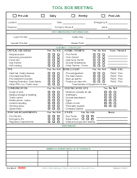 Commission Tracking Spreadsheet Meeting Checklist Template Images Toolbox Meeting Procedure
