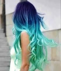 how to blend hair color indigo aqua in a stunning color blend latest ombre hair color