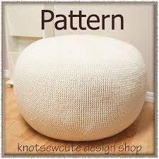 furniture grey knit pouf ottoman for interesting living room