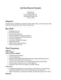 Resume Objectives Resume Objective For Architect Resume For Your Job Application