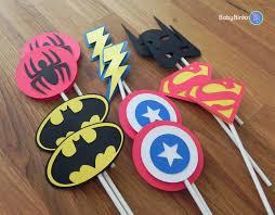 superhero wedding table decorations die cut super hero logo cupcake toppers superhero batman