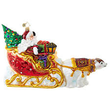 christopher radko ornaments radko sleighs polar run 1018726