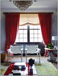 Gray And Red Curtains Curtain Ideas For Red Walls Decorate The House With Beautiful