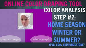 color analysis test step 2 for cool skin undertone winter color