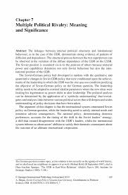 multiple political rivalry meaning and significance springer