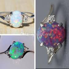 stone bands rings images Wholesale jewelry multi model artificial opa stone diamond ring jpg