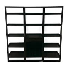56 off room and board room and board glass bookshelf storage