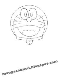 tutorial gambar kepala doraemon cara menggambar anime doraemon dengan cepat manga council