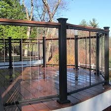 inspiring metal deck railing systems 7 aluminum deck railing