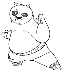 fighting cartoon kung fu panda coloring pages womanmate com