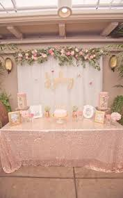 pink gold bridal shower shop boutique bridal shower ideas