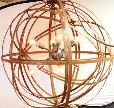 orb chandelier industrial sphere inside sphere sputnik 30 metal