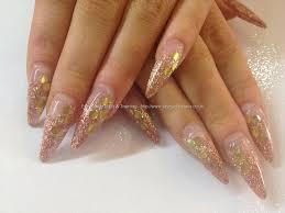 glitter fade stiletto acrylic tips nails pinterest stilettos