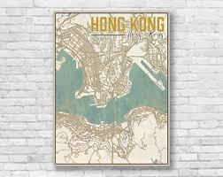 printable maps hong kong hong kong map etsy