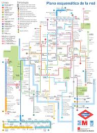 Metro Madrid Map by Plano Del Metro De Madrid