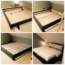 Simple Queen Platform Bed Plans by Diy Upholstered Platform Bed Frame Cozy Zoey