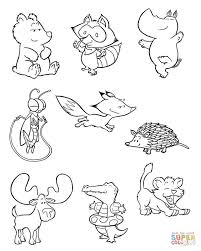 baby animals 2 coloring page free printable coloring pages