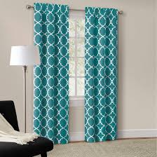 Teal Curtain Mainstays Calix Fashion Window Curtain Set Of 2 Walmart