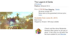 zelda amazon black friday rumor the legend of zelda wii u release date leaked for june 26th