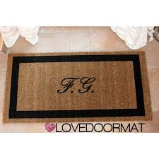 tappeti personalizzati on line zerbino personalizzato tue iniziali in cornice da interno cocco