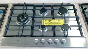 ariston piani cottura piano cottura da incasso 75 cm whirlpool inox 5 fuochi con griglie