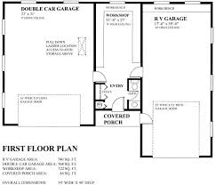 double garage with workshop and rv garage house plan hunters