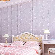 non woven pink love printed wallpaper roll striped design wall